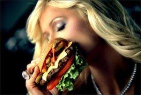 Paris Hilton Selling Cheeseburgers