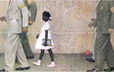 Norman Rockwell School Desgregation