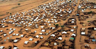 The Greida refugee camp, south-east of the Darfur town of Nyala, Sudan. Photograph: Zohra Bensemra/Reuters
