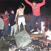Maryland Fans Rioting
