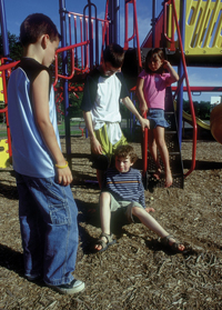 bullying on the playground (from http://www.rps.psu.edu/bullies/index.html)