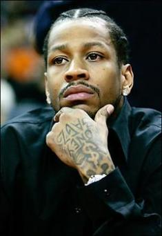 Allen Iverson on the Bench