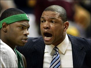Doc Rivers and former Celtic Marcus Banks