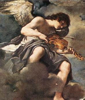 Guercino Painting - Saint Francis Angel with Violin