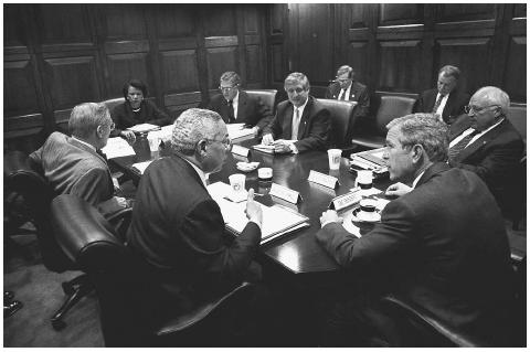 National Security Council Oct. 2001 AP/Worldwide Photos