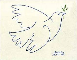 """Picasso """"Blue Dove"""""""