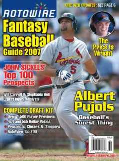 Fantasy Baseball Magazine Cover