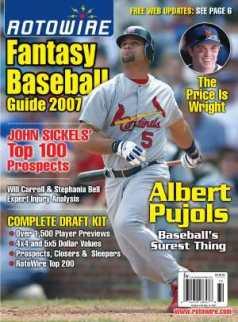 Fantasy Baseball Magazine Cover