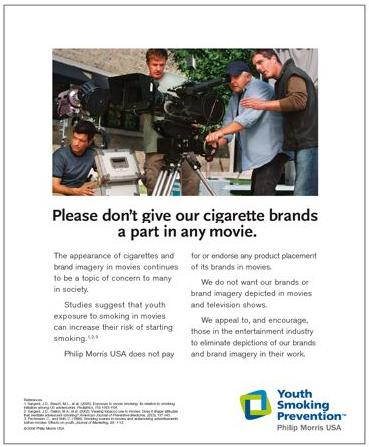 Cigarette Ad for Movie Makers