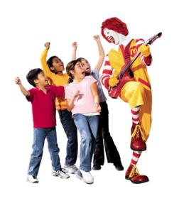 Ronald McDonald dancing with kids - http://www.tasteofplano.com/images/ronald-mcdonalds.jpg