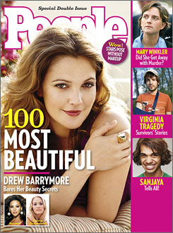 Drew Barrymore People Magazine Most Beautiful