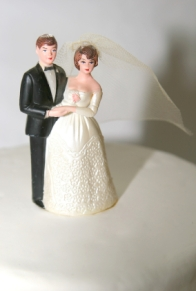 IStock image - Wedding Cake Bride & Groom