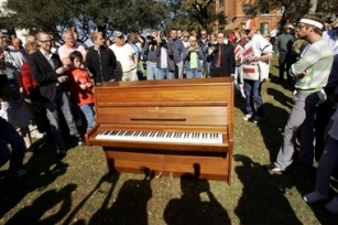 Lennon Piano on tour (AP)