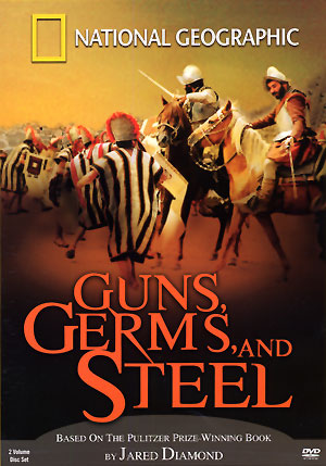 jared diamonds thesis in guns germs and steel Guns, germs & steel: the fate of human societies (the two decades ago a ucla geography professor named jared diamond published guns, germs, and steel: jared diamond in this book is trying to answer the question of why did the europeans have such great advantage over natives on the.