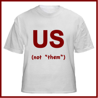 Us versus them t-shirt