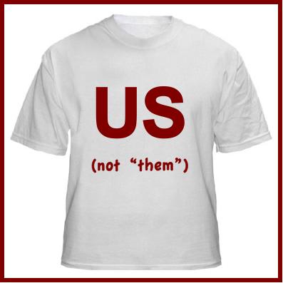 Us versus them t-shirt