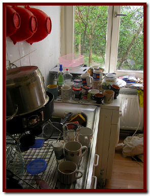 Messy Kitchen