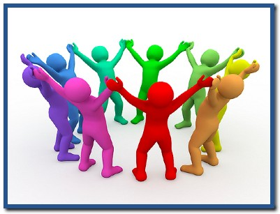 3D Men Form Social Group Of Friends Cooperation Ppt ...  |Group Cooperation