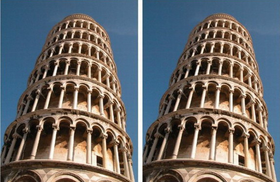 The Leaning Tower Illusion