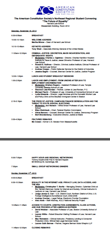 acs 2013 schedule