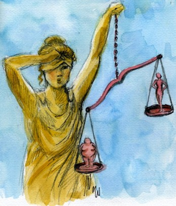 weight bias courtroom - by Madelein witt